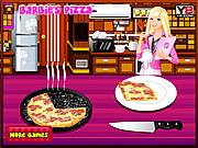 باربي وطهي البيتزا الشهية